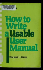 How to write an instruction manual?