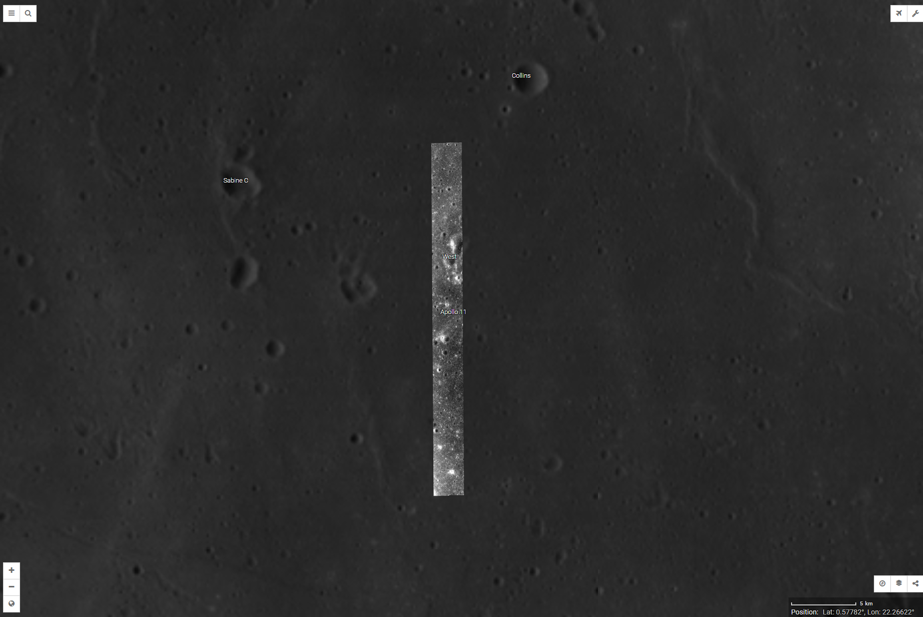 Hierachy of Resolution on the Moon