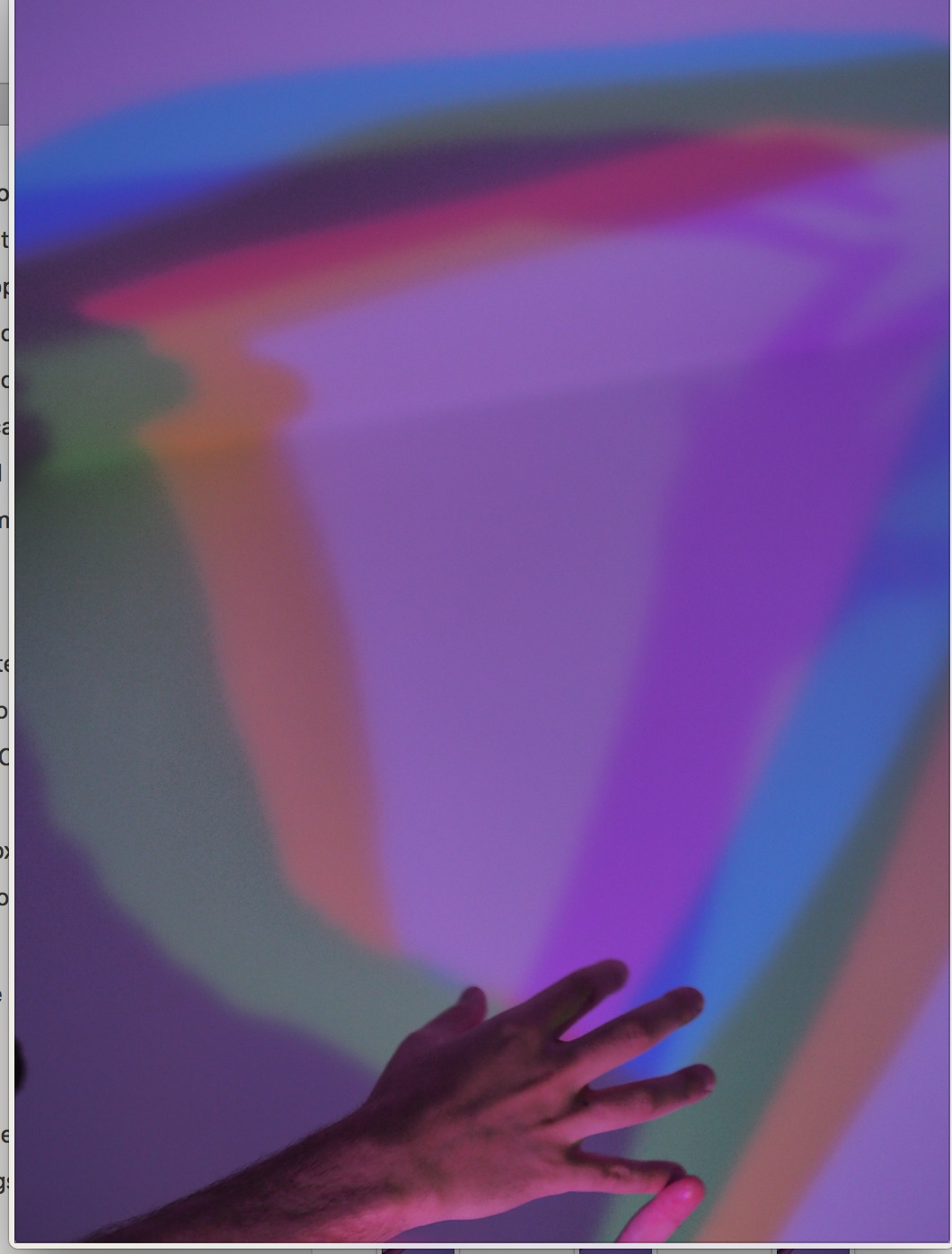 testing additive colours with light WIP